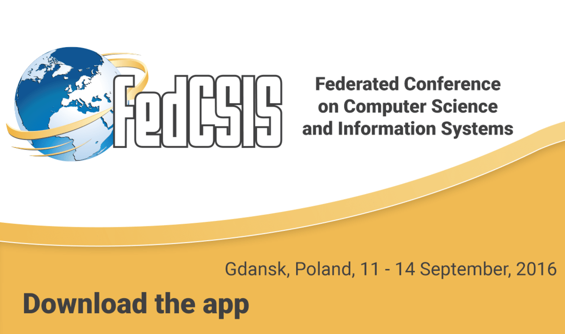Blog - Aplikacja konferencyjna Federated Conference on Computer Science and Information Systems